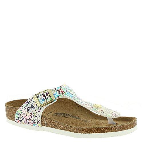 Birkenstock Girls Gizeh Sandal, Oriental Mosaic White Multi, Size 34 N EU (3-3.5 N US Little Kid)