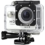 New HOT WIFI 1080P HD Action Sports Camera Built-in microphone ,Tuscom Waterproof-30M, Action Camera (2.0 Inch Ultra HD Screen)Camcorder HD 1080P Mini DV Pro Camcorder (White)