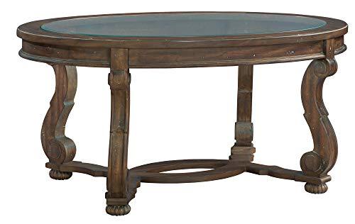 Hekman Furniture 16100 Oval Coffee Table/Glass Top (Furniture Hekman)