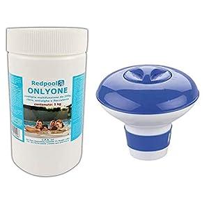 1kg Cloro in pastiglie multiazione per piscina gr 200 pastiglie cloro 3 in 1 multiazione cloro   Antialghe   Flocculante… 41uZ594XUwL. SS300