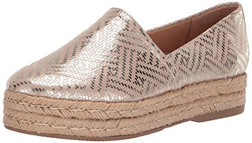 (Naturalizer Women's THEA 3 Shoe, Light Gold Woven, 7.5 W US)