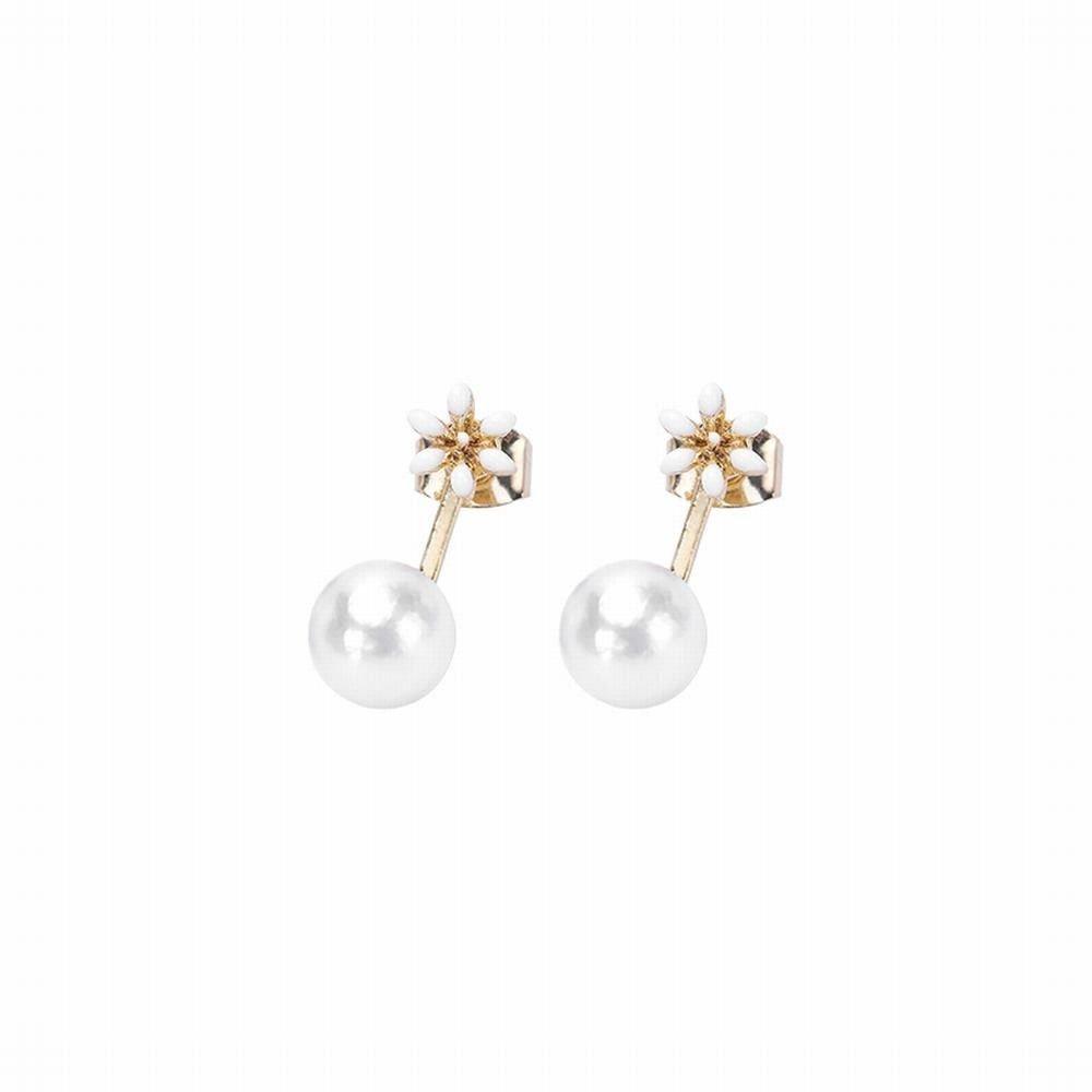 Ling Studs Earrings Hypoallergenic Cartilage Ear Piercing Simple Fashion Earrings Ear Jewelry Earrings Short Imitation Pearl Simple White