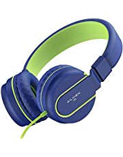 AILIHEN Kopfhörer mit Mikrofon On-Ear faltbar leicht Headset 3.5mm für Mobiltelefone Tablets Smartphones Laptops Computer PCs