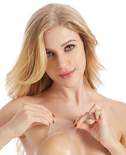 Silicone Valley Strapless Backless Reusable Adhesive Bra LIFT Bra Pasties Nipple Covers Nippits Available in 3 Sizes