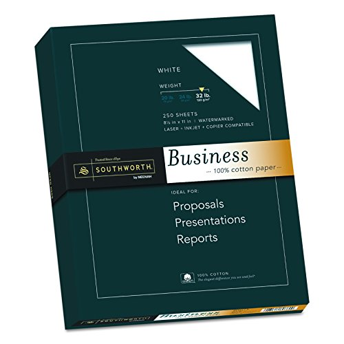 "100% Cotton Business Paper (Southworth 100% Cotton Business Paper, 8.5"" x 11"