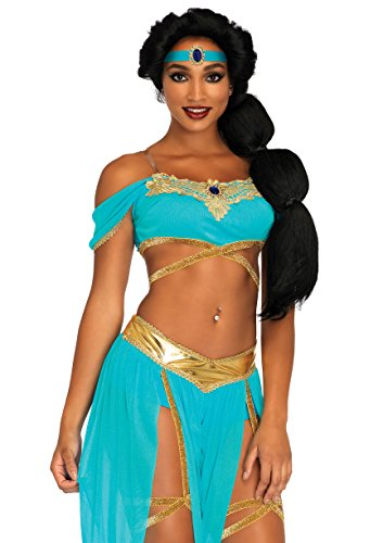 Leg Avenue Oasis Princess Costume - Small - Blue (4-Piece)