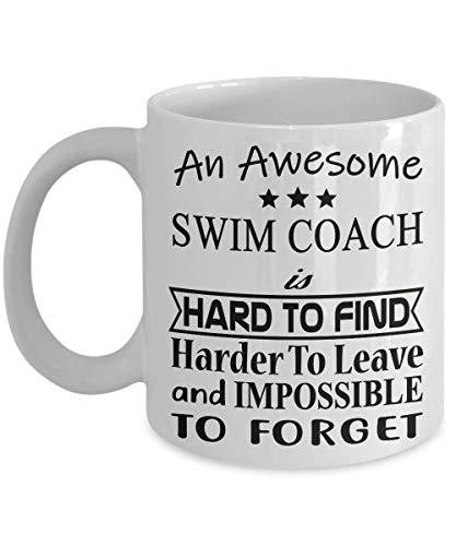 Swim Coach Coffee Mug - Retirement Gift Idea for Men Women Dad Mom Coworker Office Friend Boss - Appreciation Farewell Goodbye Leaving Day Tea Cup Chr
