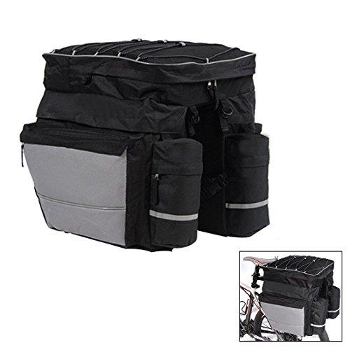 60L Wasserdicht Polyester Mountain Road Fahrrad Bike Tasche Double Side Rear Rack Schwanz Sitz Trunk Bag Fahrradtasche