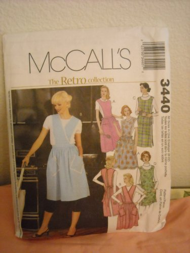 Misses Aprons Pattern (Misses Retro Apron Collection Pattern - McCall's # 3440)