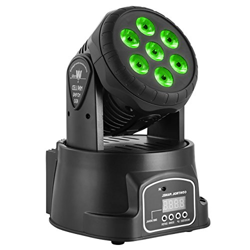 Eyourlife Moving Head Light 7 X 10W RGBW 4 in 1 CREE LED DMX512 Stage lighting for DJ KTV Disco Party Wedding Effect Lighting