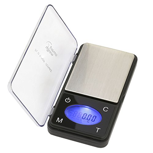 Amazon Lightning Deal 95% claimed: Smart Weigh ZIP600 Ultra Slim Digital Pocket Scale with Counting Feature, 600 by 0.1-Gram