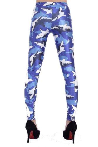 LoveLiness Shark Camouflage Digital Print Leggings