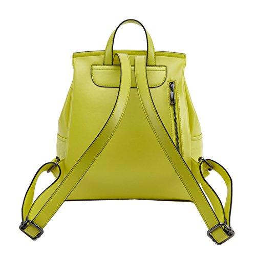 Sweetmeet Women's Genuine Leather Backpack Purse Satchel Multifunction School Bag Fit Ipad Crocodile Black