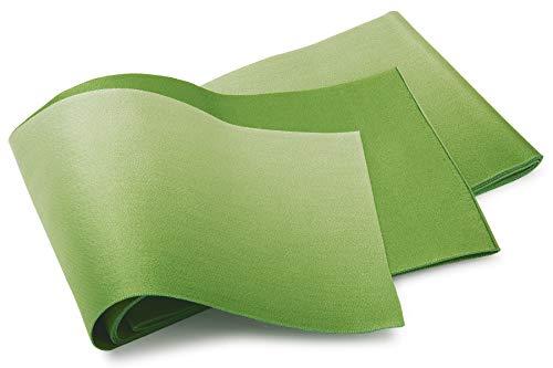 便益要塞しゃがむ半幅帯 緑 シンプル 無地 グラデーション リバーシブル 単衣 カジュアル レディース 仕立て上がり