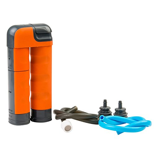 Renovo Water MUV Backcountry Pump Water Filter - Blocks Chemicals, Heavy Metals, Bacteria, and (150 Gallon Mix)
