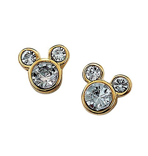 Mms Mouse - Disney Mickey Mouse Stud Earrings With Rhinestones