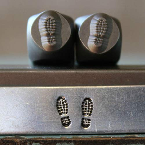 6mm Military Combat Boots Metal Punch Design Jewelry 2 Stamp Set