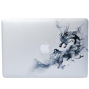 "NDAD 2015 Creative Cool Smoke Dargon Vinyl Decal Partial Art Stickers Skin for MacBook Pro 13, and MacBook Air 13.3"" Macbook Retina 13.3"",Unibody 13 Inch Laptop"
