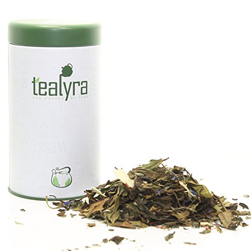 Tealyra - Exclusive White Coconut Cream Blend - Organically Grown - Natural Ingredients - Loose Leaf White Tea - Low Caffeine Level (1.75oz / 50g TIN)