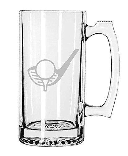 Sports Beer Mug Etched Handmade Golf 25 oz