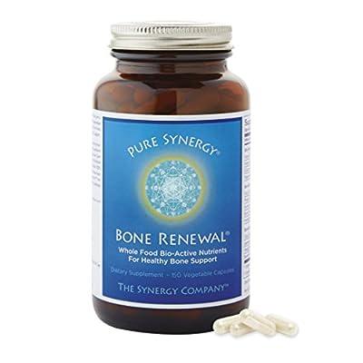 Pure Synergy Bone Renewal (150 Capsules) Bone Vitamin w/ Plant-Based Calcium, Magnesium, D3, K2, Trace Minerals