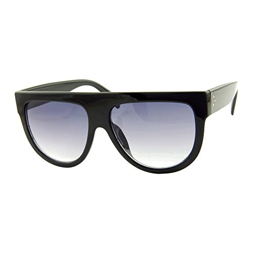 ROXX- Oversized Stylish Black with Smoked Purple Gradient Lens Celebrity Flat Top Sunglasses for Men and - Top Men Sunglasses Flat
