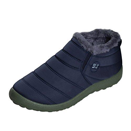 Dear Time Women Winter Snow Ankle Boots Fur Lining Waterproof Outdoor Slip  On Booties Sneakers US f35f35ca5