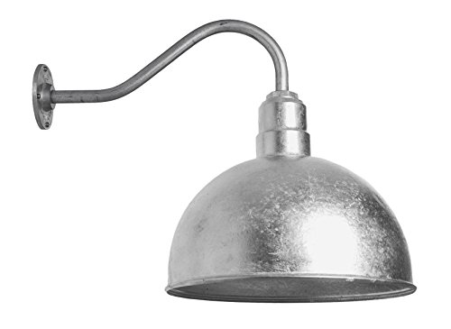 The Hollywood Bowl | Large Bowl Shaped Light on a Gooseneck | Barn Lighting and Farmhouse Lighting | Color Variations | Made in America (16