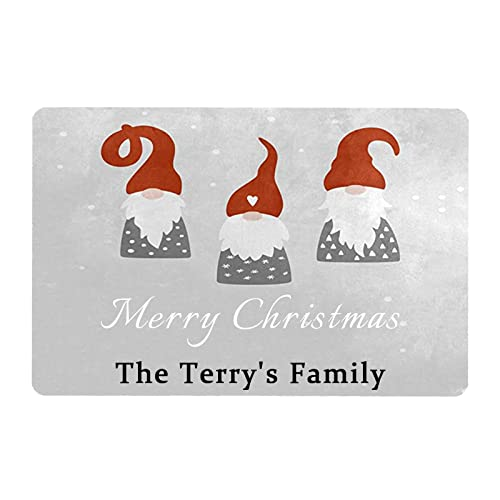 Gxiliru Personalized Merry Christmas Signs 3 Santa Claus Simple Custom Winter Home Porch Entryway Garden Patio Door Sign Decorative Accessories Home Store Office Kitchen Wall Hangings