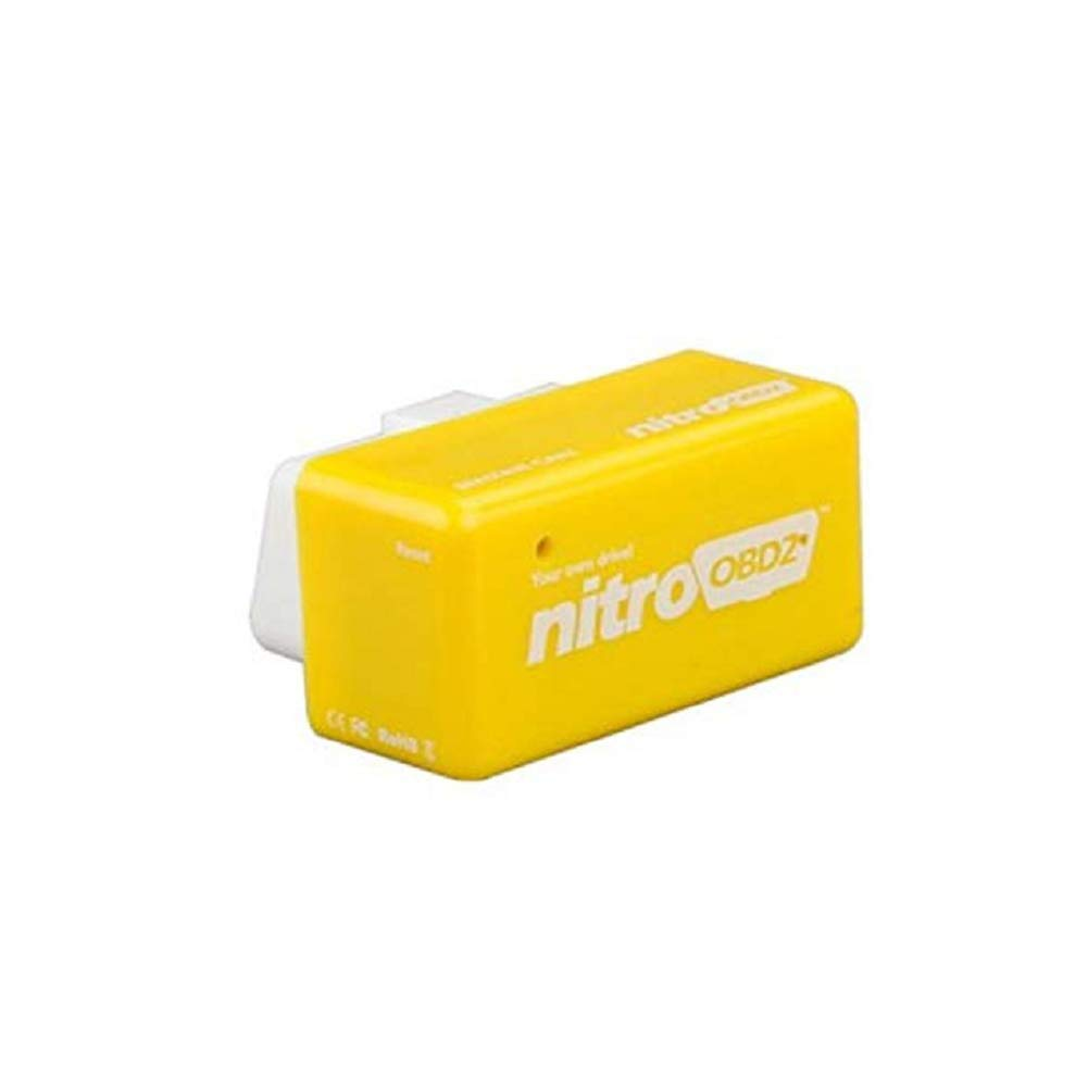 Vine Outzone Plug and Drive NitroOBD2 Performance Chip Tuning Box Nitro OBD2 OBD Plug and Drive More Power Torque for NitroOBD Gasoline Benzine Petrol Cars