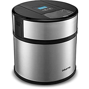 Gourmia GSI170 Automatic Ice Cream Maker Frozen Yogurt & Sorbet Maker with Digital Timer, Easy Pour Spout, 3 Pints, with Free Gourmet Recipe Book Included