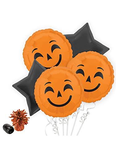 Costume SuperCenter Halloween Pumpkin Emoji Balloon Bouquet Kit