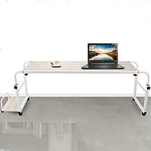 succebuy Overbed Laptop tabla 55 cm mesa para cama con ruedas mesa ...