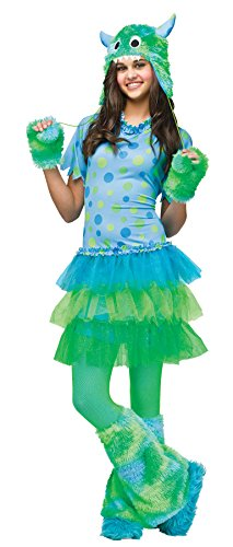 UHC Teen Girl's Monster Miss Polka Dot Outfit Funny Theme Halloween Costume, Teen (0-9) (Teen Polka Dot Clown Costume)