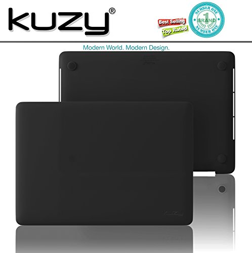 Kuzy MacBook Pro 15 Case 2018 2017 2016 Release A1990 A1707, Plastic Hard Shell Cover for NEWEST MacBook Pro 15 inch case with/without Touch Bar Soft Touch - BLACK by Kuzy (Image #7)