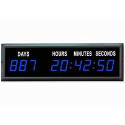 EU 1.8'' LED Countdown Clock Days Hours Minutes and Seconds (Blue)