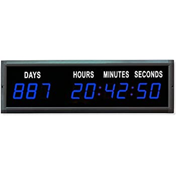 Amazon Com Ledigtal Led Days Countdown Clock Red Color 1