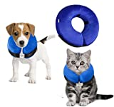 Royalsell Dog Cone Collar, Protective Inflatable Collar for Dogs and Cats - Pet Recovery Collar Does Not Block Vision E-Collar (XS)