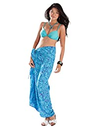 1 World Sarongs Womens Abstract Leaf Cover-Up Sarong in your choice of color