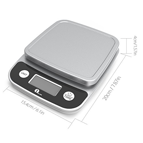 1byone-Digital-Kitchen-Scale-Precise-Cooking-Scale-and-Baking-Scale-Multifunction-with-Range-From-004oz-1g-to-11lbs-Elegant-Black