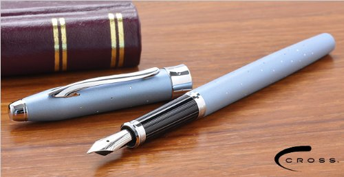 Cross Century II Starlite Cool Sophistication , Hollywood Glamor and Galaxy of Stars Limited Edition Sky Blue Fountain Pen Medium ()