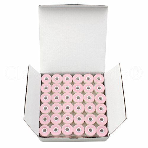 36 Pack - CleverDelights White Prewound Bobbins - Cardboard Sided (Plastic Sided Bobbins)