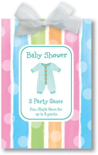 Baby Shower book of 5 party games for 8 guests