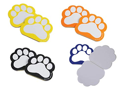 J&J's ToyScape Bulk Paw Print Memo Pad Notebooks (Pack of 48, Orange, Blue, Black, Yellow) Mini Pocket Memo Pads Ideal for Party Favors, Goody Bag Fillers, Rewards