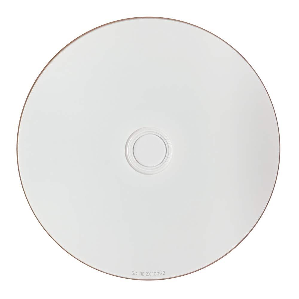 3 Pack Ritek BD-RE XL Rewritable BDXL 100GB Triple Layers 2X White Inkjet Hub Printable Blank Disc
