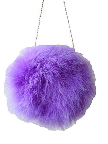 Metal Feather Women's Chain Violet Elegant Bag Shoulder Handbag Natural YOTSqH