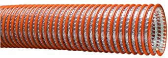 Tigerflex WST Series Heavy Duty PVC Fabric Reinforced Suction and Discharge Hose, 100 PSI Max Pressure, 1-1/2 inches ID, 100 feet Length