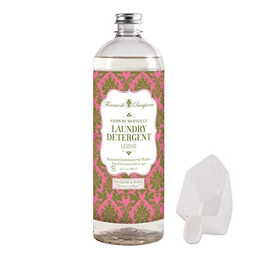 Florence de Dampierre 64 Load, Organic and All-Natural Savon de Marseille Soap, Liquid Laundry Detergent, 32 oz. Rosemary