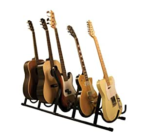 Amazon Com Guardian Multiple Guitar Stand For Five Guitar