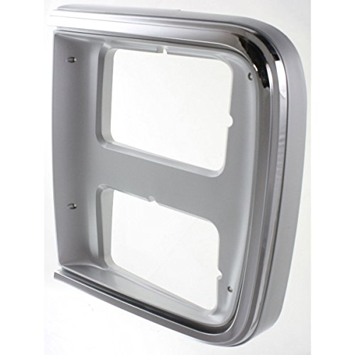 Diften 630-A0071-X01 - Chrome Headlight Headlamp Trim Bezel Driver Side Left LH for 85-91 Chevy GMC Van